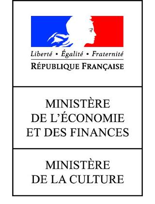 Logotipo del Ministerio de Cultura y del Ministerio de Economía y Hacienda'économie et des finances